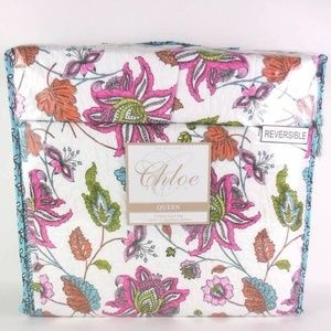 Other - Chloe Full Queen Quilt Set Tropical Floral